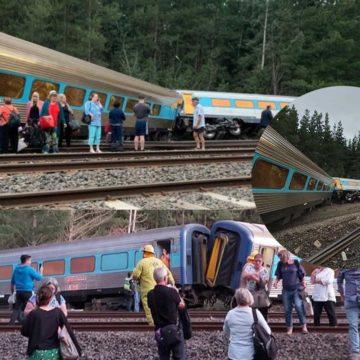 Two dead after train derails outside Melbourne