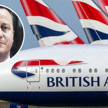 Former UK prime minister David Cameron's bodyguard leaves loaded gun in plane loo