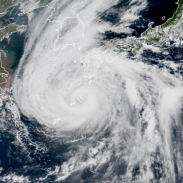 Thousands evacuated in Japan and North Korea as Typhoon Haishen approaches