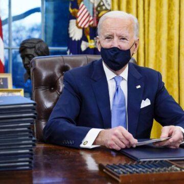 US President Joe Biden signs coronavirus measures