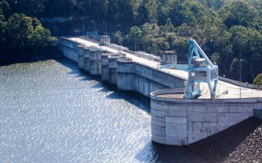 Heavy rain pushes Sydney's Warragamba Dam close to the brim