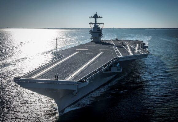 US navy tests aircraft carrier with 'full ship shock trial' explosion that registers as 3.9 magnitude earthquake