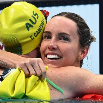 Gold, Olympic record for swimmer Emma McKeon